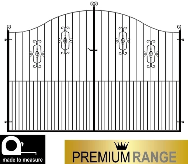Gloucester wrought iron estate gate evador for Aluminum driveway gates prices