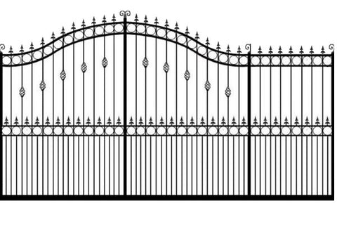 Metal Sliding Gates, the Goldsworth. Made to measure in the UK to any width or height.
