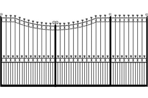 Metal Sliding Gates, the Hertfordshire. Made to measure in the UK to any width or height.