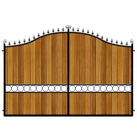 Southwark Estate Gates. Deep framed with the finest timber cladding. Bespoke sizes available, both in height and width. Made in the UK.