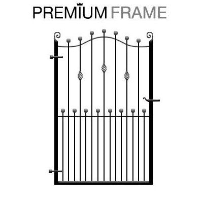 Wentworth Garden Gate. Sweeping header, optional feature and made to measure.