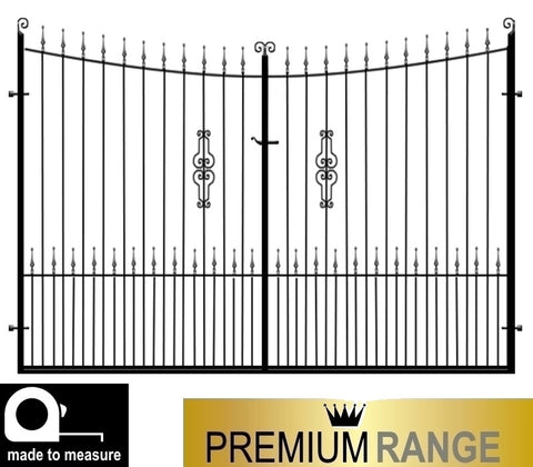 Winchester Wrought Iron Estate Gates, Premium Range