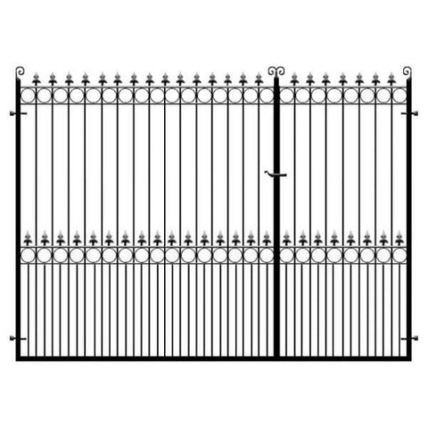 Arundel 3/4 Split Metal Driveway Gates. Ideal for those entrances that need a slightly bigger (or smaller) leaf rather than a standard 50/50 split.