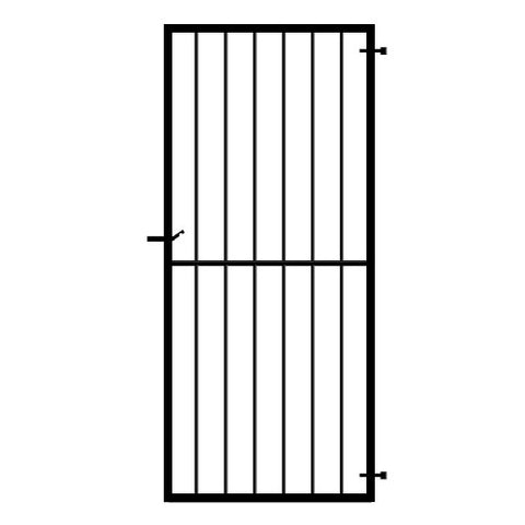 Cheltenham Side Gate. Premium frame security side pedestrian gate. Made in the UK to any width or height.