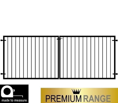 "Cheltenham Low driveway gates. Height between 3ft and 4ft 6"". Flat top design."
