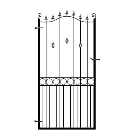 Farnham Side Gate - stunning wrought iron made to measure gate hand produced in the UK
