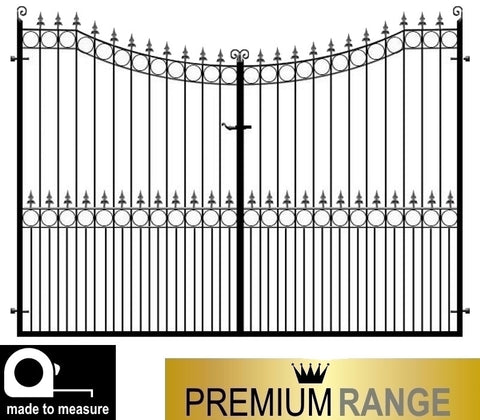 Wrought Iron Estate Gates, the Hertfordshire. Premium range, made to measure and handcrafted in the UK.