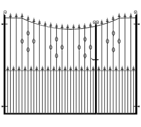 Knightsbridge 3/4 split entrance gates. Manufactured by hand to any width or height.