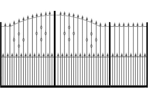 Metal Sliding Gates, the Hastings. Made to measure in the UK to any width or height.