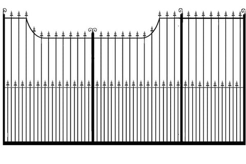 Metal Sliding Gates, the Chester. Made to measure in the UK to any width or height.