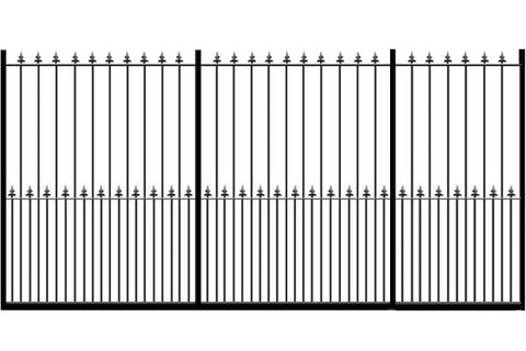 Metal Sliding Gates, the Darlington. Made to measure in the UK to any width or height.