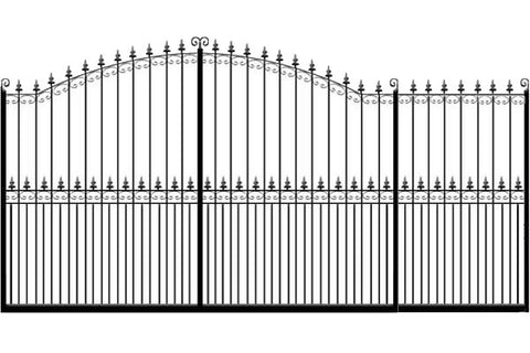 Metal Sliding Gates, the Francombe. Made to measure in the UK to any width or height.
