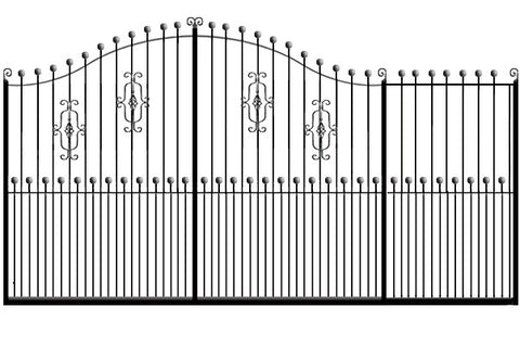 Metal Sliding Gates, the Farnham. Made to measure in the UK to any width or height.