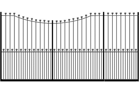 Metal Sliding Gates, the Peacehaven. Made to measure in the UK to any width or height.