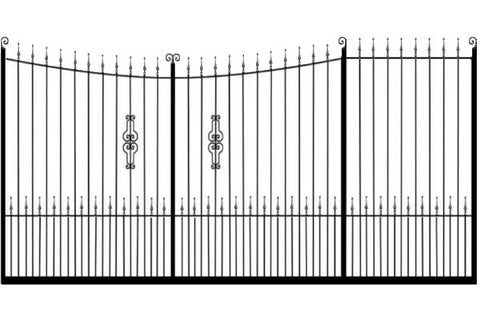 Metal Sliding Gates, the Winchester. Made to measure in the UK to any width or height.