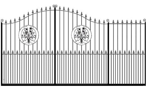 Metal Sliding Gates, the Buckinghamshire. Made to measure in the UK to any width or height.