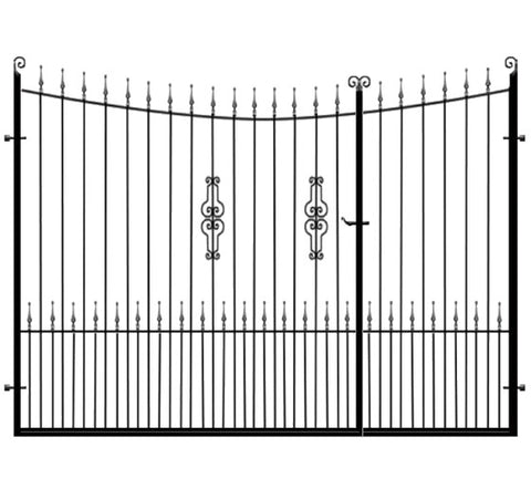 Winchester Split Wrought Iron Gates. Made to measure and delivered nationwide by UK's largest bespoke gate manufacturer.