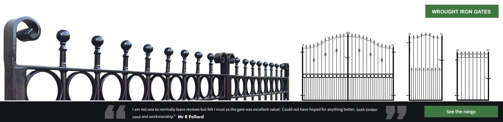 Evador Wrought Iron Metal Gates