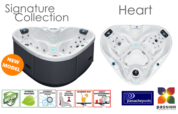 Heart two person hot tub Passion Spas