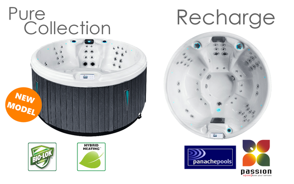 Recharge round hot tub