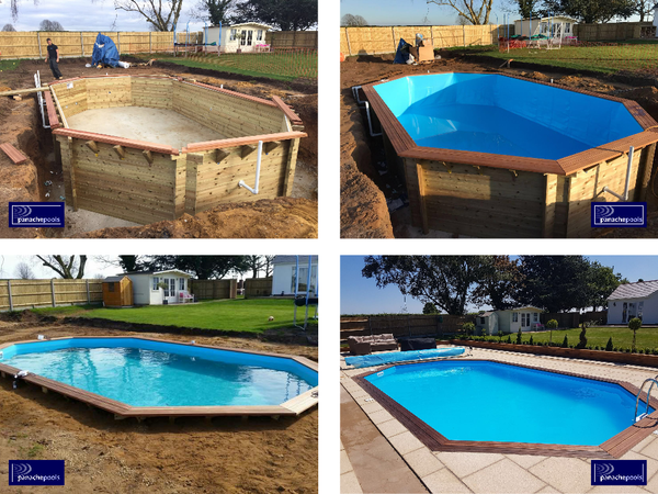 wooden pool build