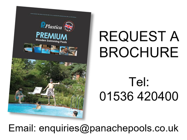 wooden pool brochure