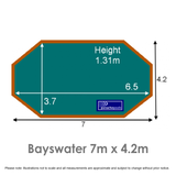 Bayswater Wooden Pool Dimensions