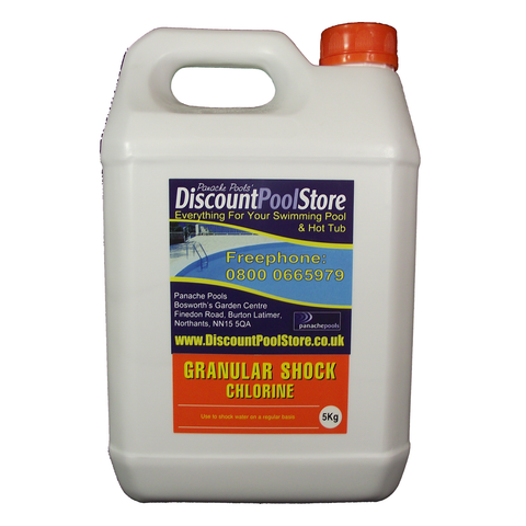 Shock Chlorine Granules 1kg Or 5kg For Swimming Pools And Hot Tubs Panache Pools 39 Discount