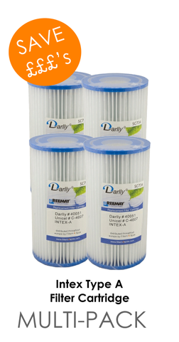 Filter Cartridge Intex Type A (Twin Pack or Four Pack)
