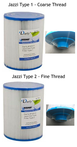 jazzi type 1 and type 2 filters for passion spas