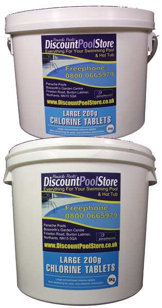 Large 200g Chlorine Tablets For Swimming Pools Panache