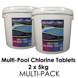 Large 200g Multi Pool Chlorine Tablets 5kg (Twin Pack or Four Pack)