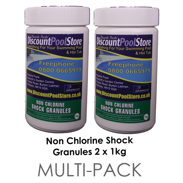 Non Chlorine Shock Granules 2 X 1kg Multi Pack Panache Pools 39 Discount Pool Store