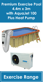Premium Exercise Pool AquaJet 100 with Heat Pump