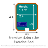 Premium Exercise Pool Dimensions