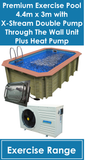 Exercise Pool with XStream Dual plus Heat Pump