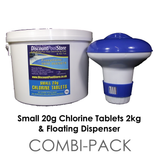 Small 20g Chlorine Tablets 2kg with Dispenser
