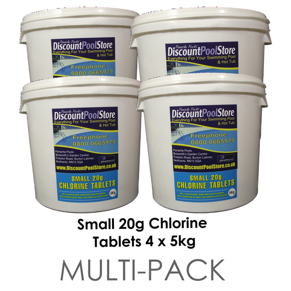 Small 20g Chlorine Tablets For Spas Hot Tubs And Small