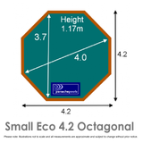 Small Eco Wooden Pool Dimensions