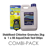 Stabilised Chlorine Granules with Test Strips