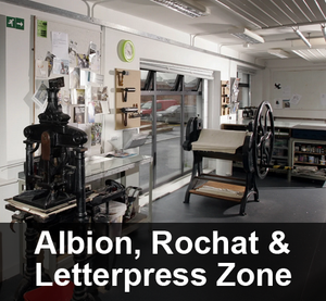 Albion Press, Rochat Etching Press and Letterpress Zone Session Booking