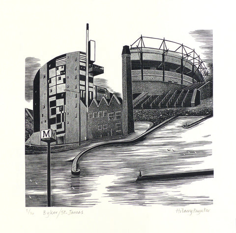 Hilary Paynter Wood Engraving: Byker/ St James