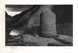 Hilary Paynter Wood Engraving: Dolbadarn