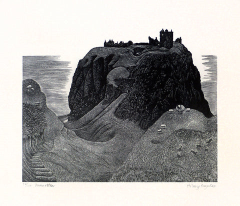 Hilary Paynter Wood Engraving: Dunnottar