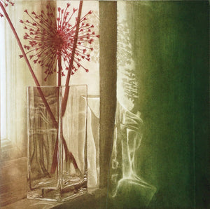 Anja Percival. Etching:  Dusk Light VIII