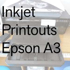 Inkjet Printouts from Small Epson A3 Printer