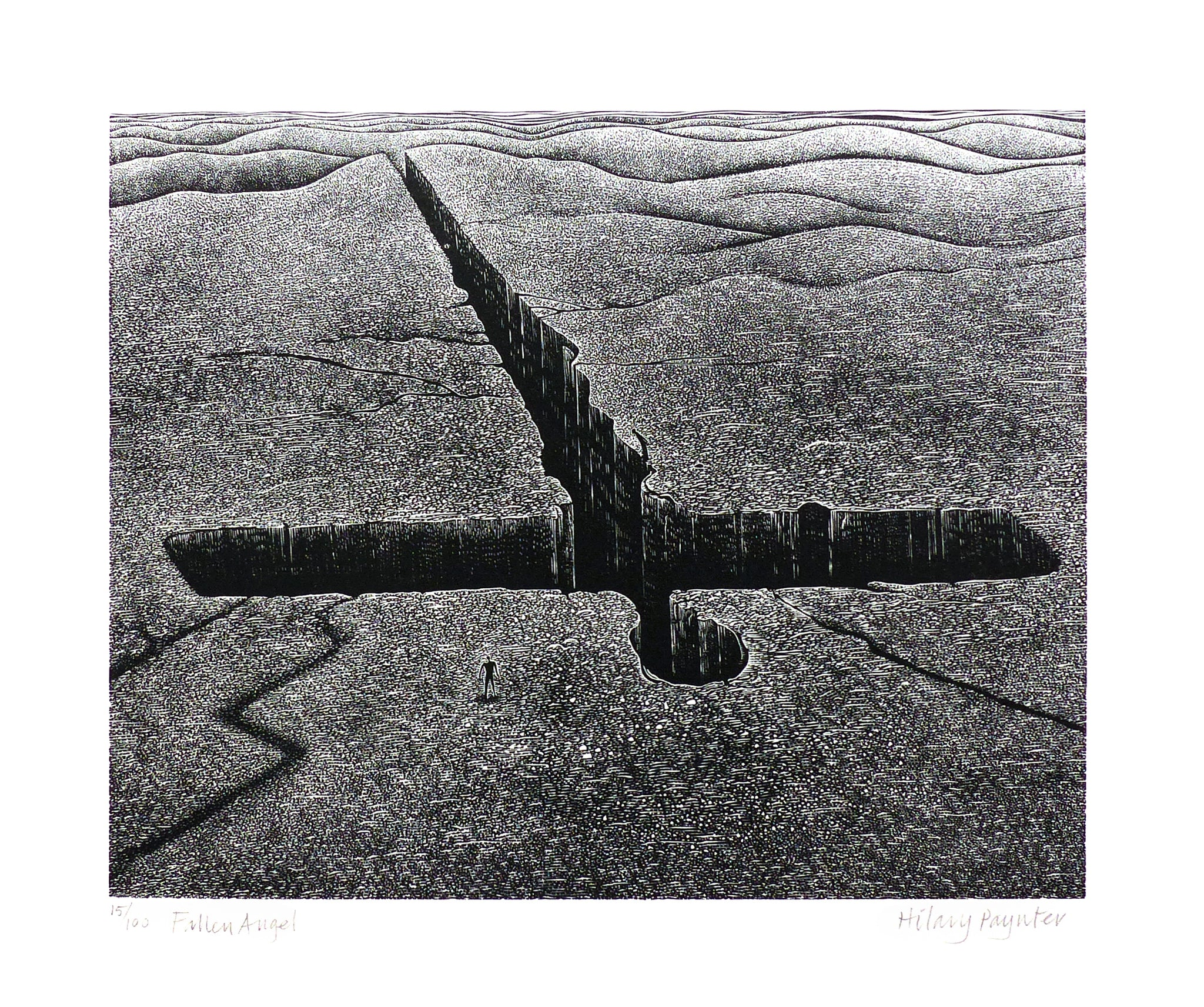Hilary Paynter Wood Engraving: Fallen Angel