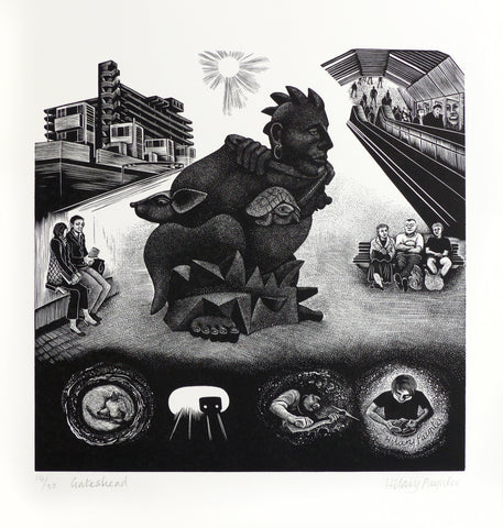 Hilary Paynter Wood Engraving: Gateshead