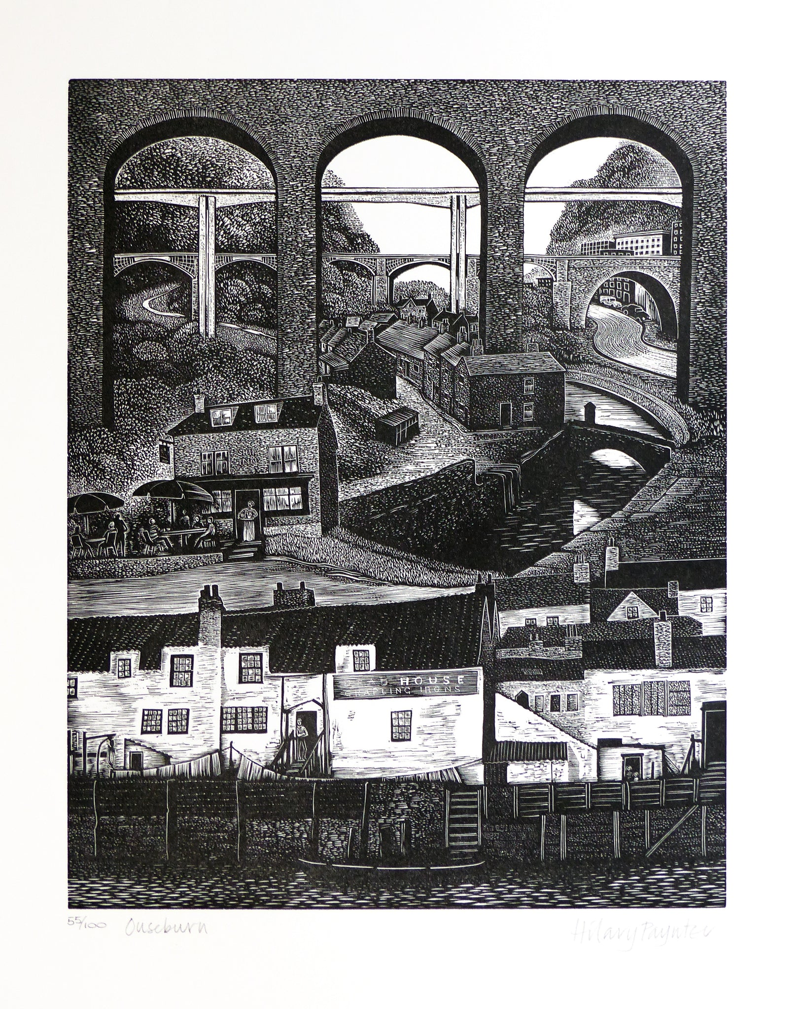 Hilary Paynter Wood Engraving: Ouseburn