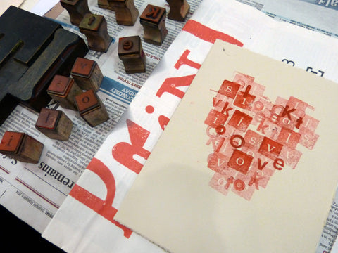Letterpress Love Tokens